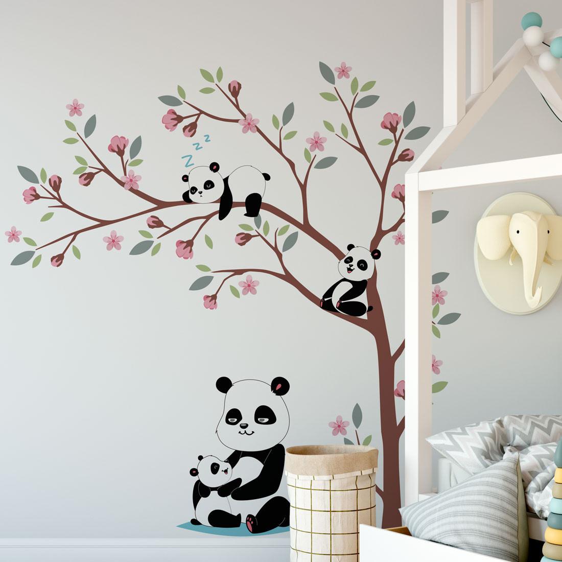 Adesivo de parede fofo para quarto infantil.