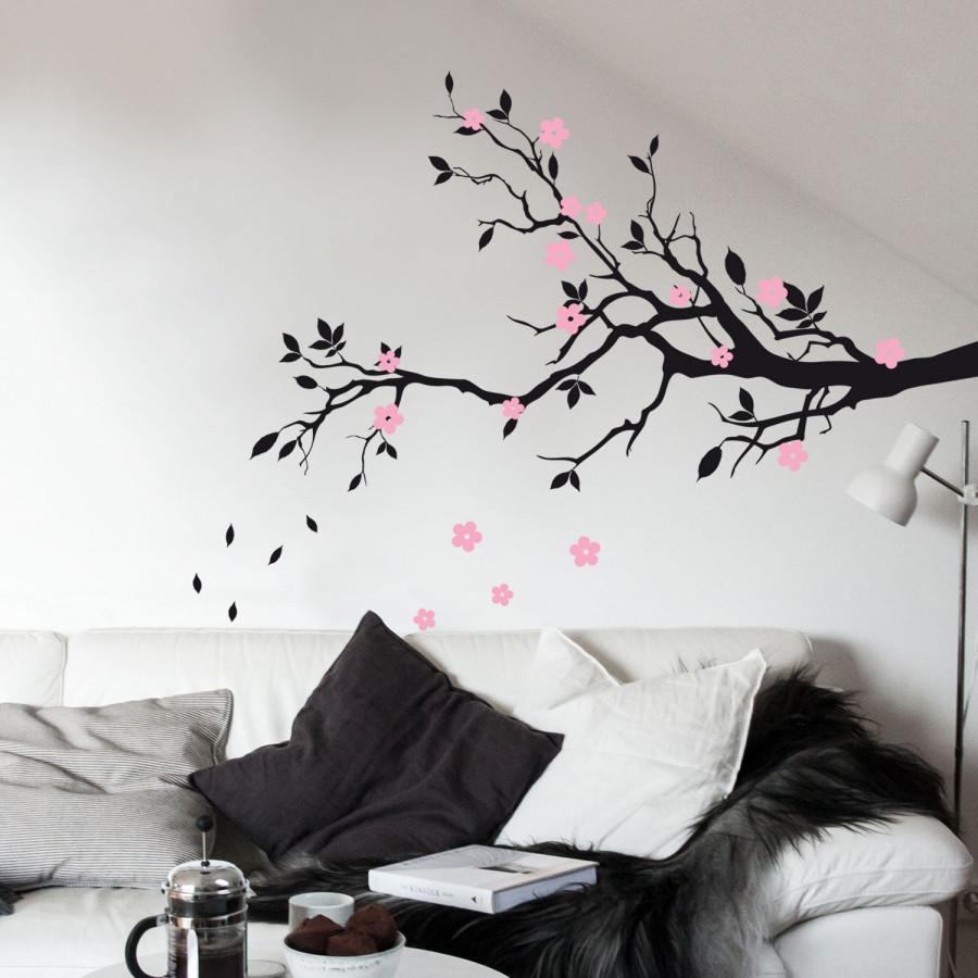 Adesivo de parede flores.