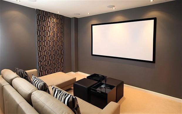 Sala de cinema em casa - Dica Quarto de hóspedes multifuncional.