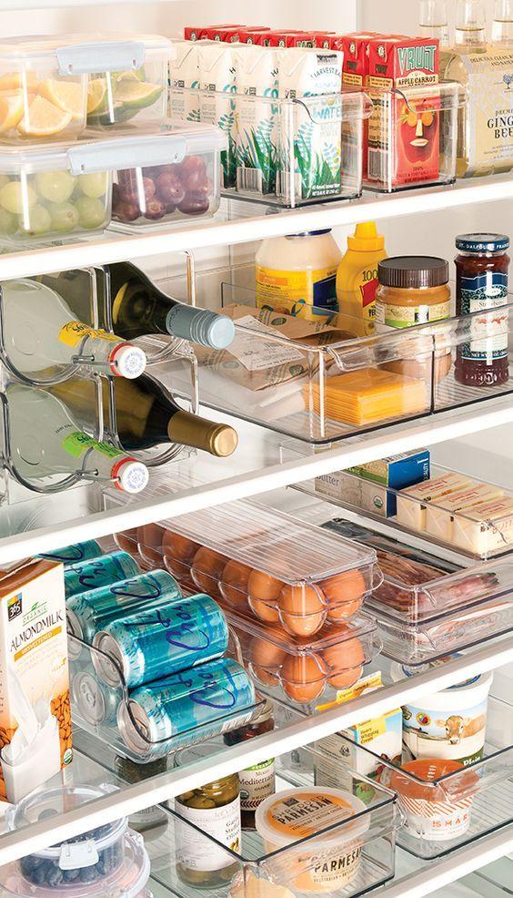 Dicas de organização - Bandejas na geladeira.