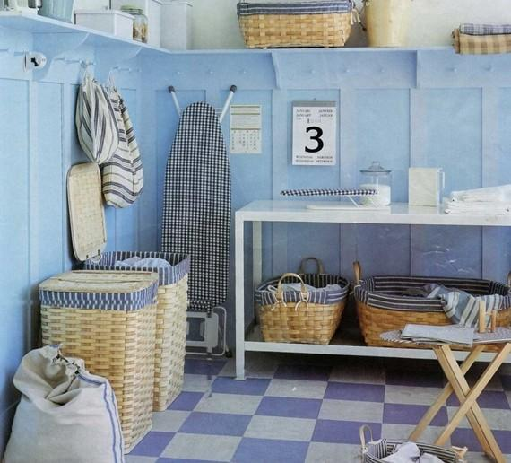 interior-aqua-color-theme-laundry-room-ideas-with-checked-floor-pattern-awesome-laundry-room-design-inspiration