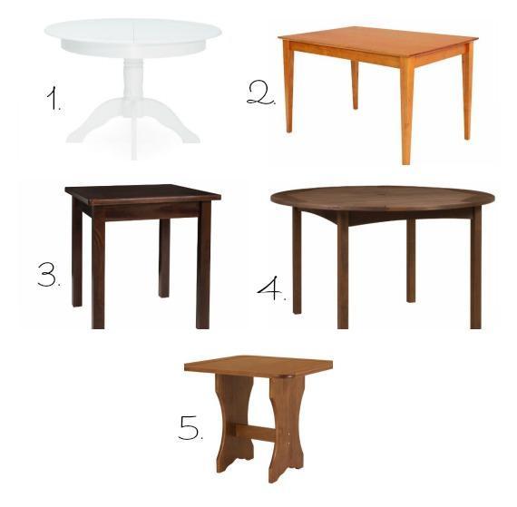 Mesa quadrada ou mesa redonda - Mesas redondas pequenas ...