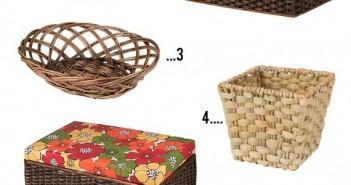 cestos de fibra natural da meu móvel de madeira