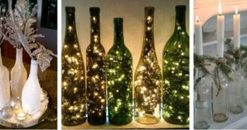 Garrafas decoram o Natal com charme e simplicidade