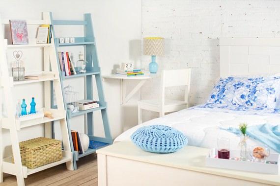 Ambiente multifuncional: escritório e quarto de casal