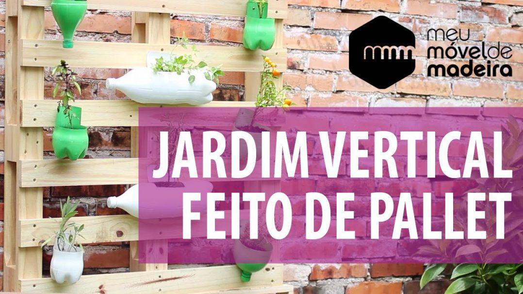 jardim vertical pallet:Faça você mesma: Jardim vertical de Pallet -