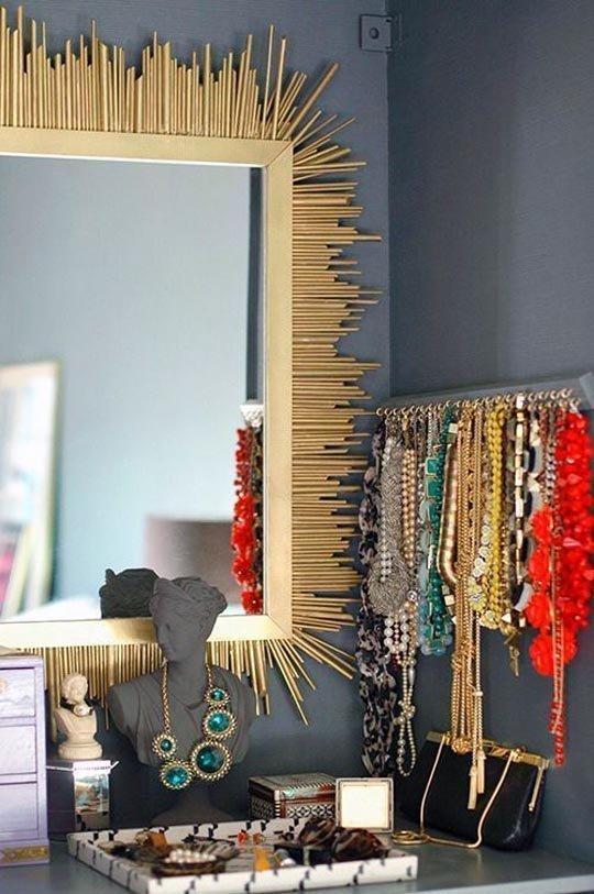 Ganchinhos para organizar bijuterias