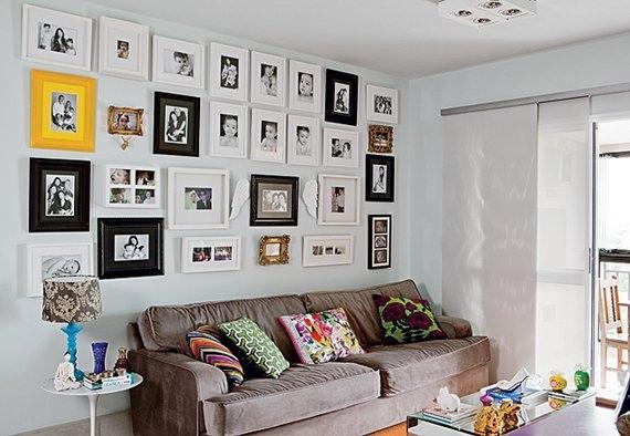 Fotos na sala de estar