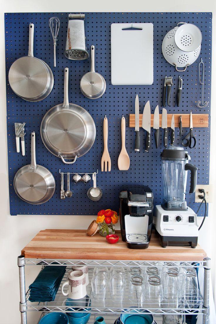 Pegboard na cozinha