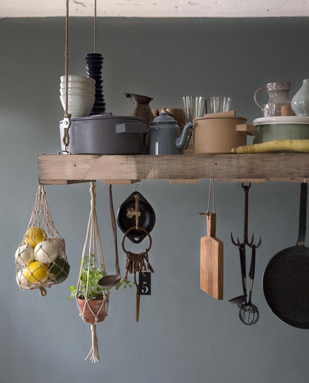 Utensílios à mostra na cozinha