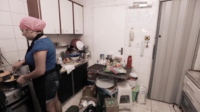 Cozinha bagunçada do Santa Ajuda