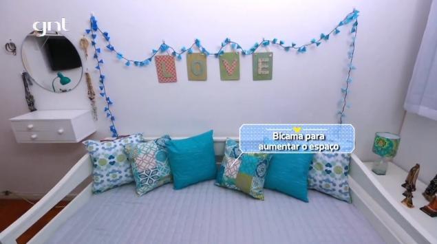 Sofá-cama com bicama