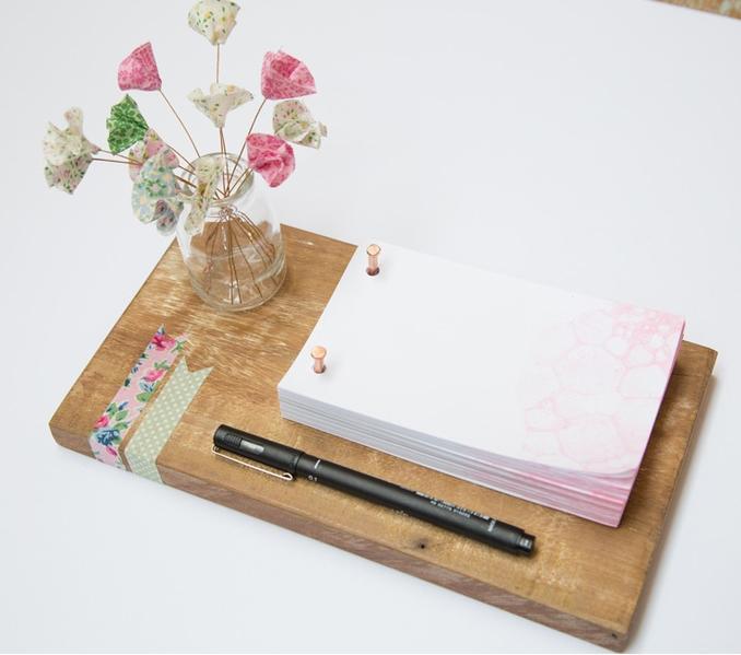 Bloco de notas personalizado com aquarela