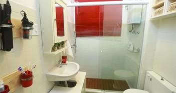 Banheiro pequeno no Santa Ajuda