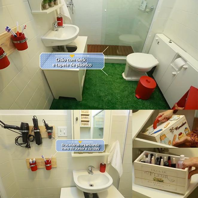 Banheiro pequeno no Santa Ajuda -> Banheiro Pequeno Quarto