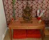 Cantinho zen com móveis MMM no Santa Ajuda