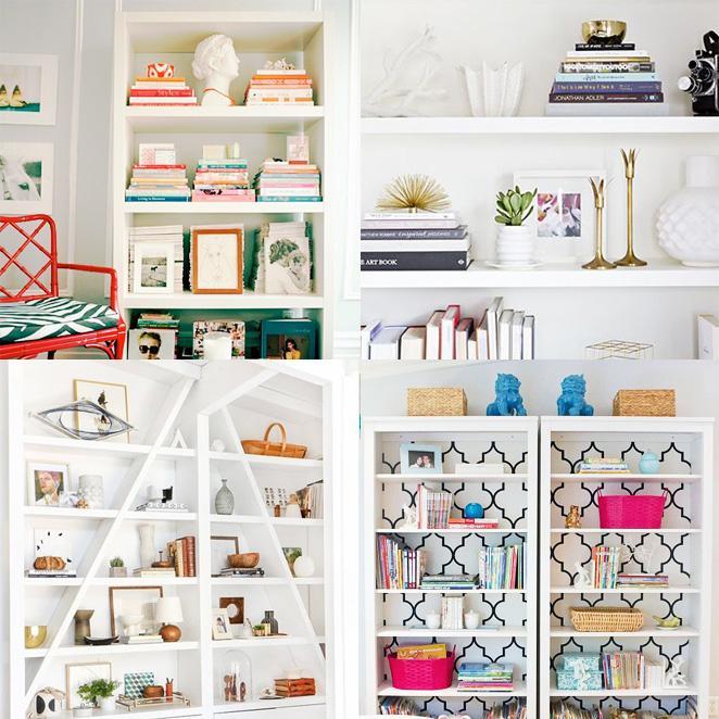 decorando-a-estante-de-livros-com-objetos