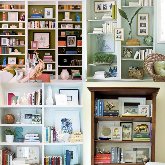 usando-molduras-na-estante-de-livros