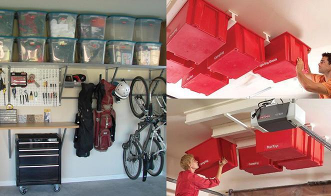 Otimize o espaco vertical da sua garagem com prateleiras e estantes