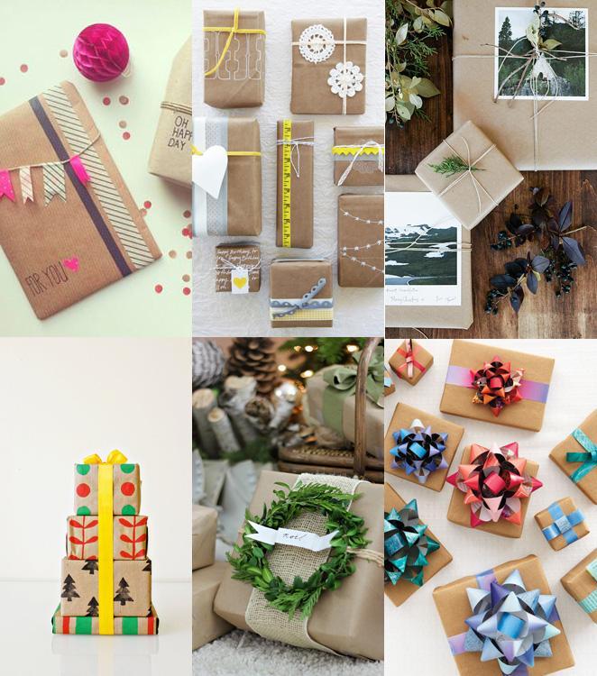 Aprenda como fazer embalagens de presente com papel kraft e diferentes decoracoes