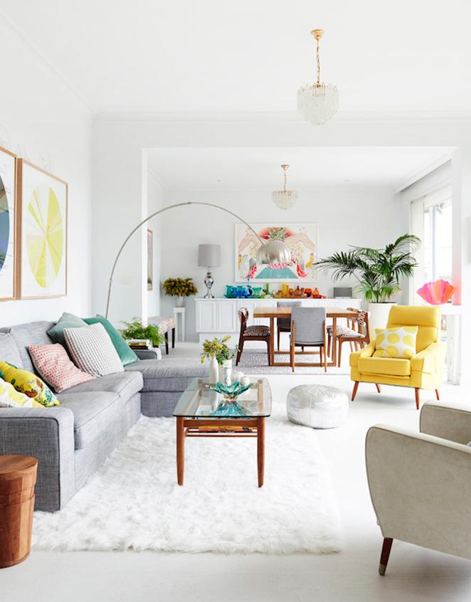 Branco na decoracao como usar com cores vivas
