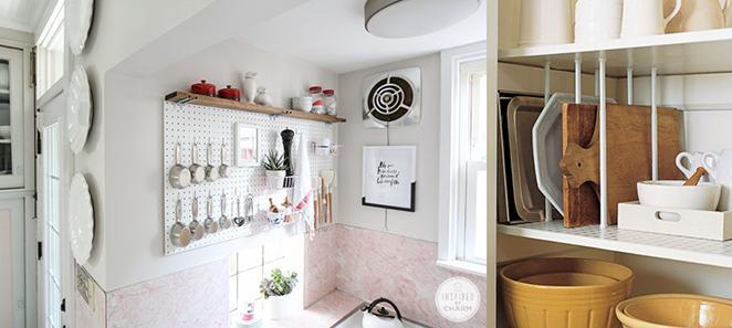 Cozinha como decorar e organizar com pegboards e varoes