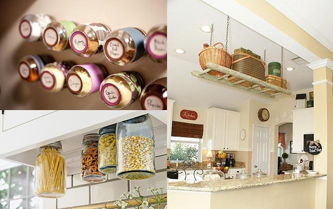 ... Cozinha como decorar e organizar potes de vidro com ima e escadas
