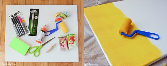 faca voce mesma mural para o menu semanal materiais necessarios e como pintar o quadro-base