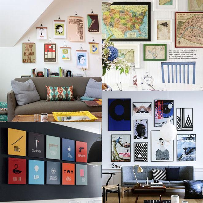 como decorar a parede com quadros