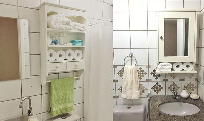 como decorar apartamento alugado com moveis para o banheiro