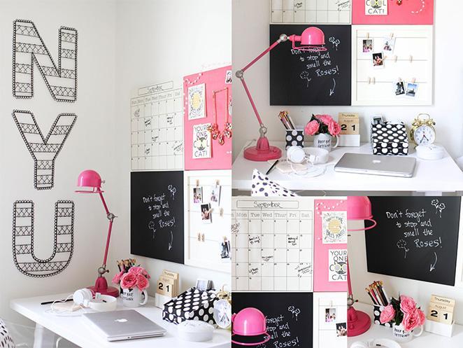 como decorar o escritorio com pouco espaco
