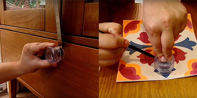 Como reformar seu movel com adesivo tirando medidas