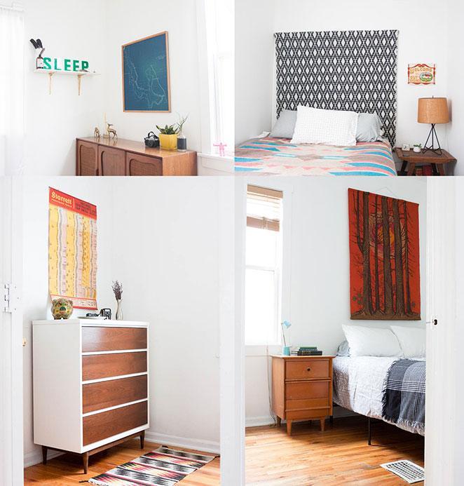 apartamento vintage com decoracao vintage quarto