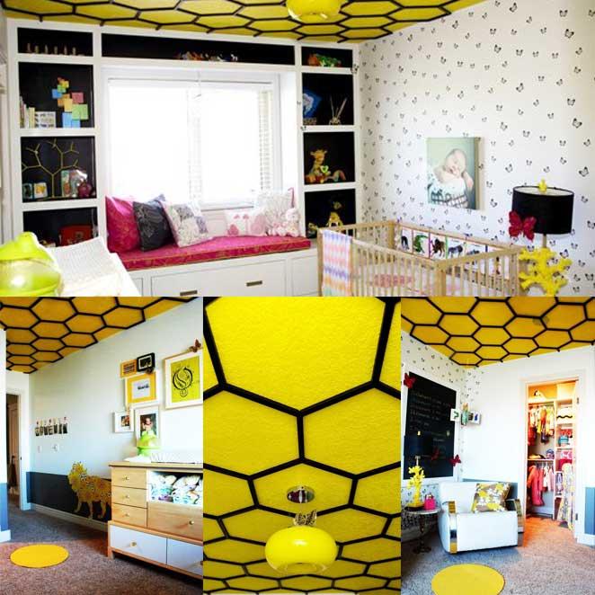 decoracao para quarto infantil inspirado em abelhas