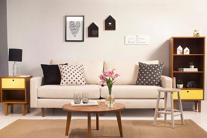 Decora o para sala de estar pequena for Sala de estar estilo vintage