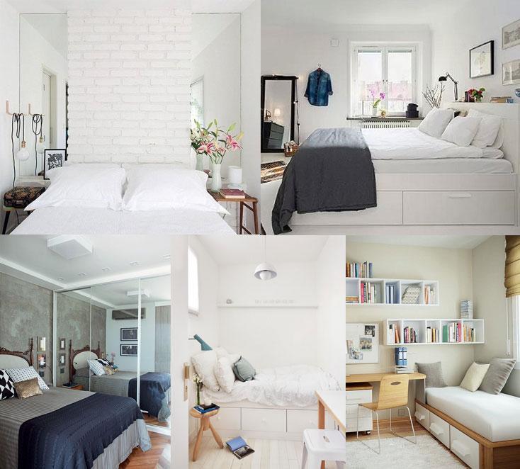 invista em espelhos e na cama certa para otimizar o espaco do seu quarto pequeno