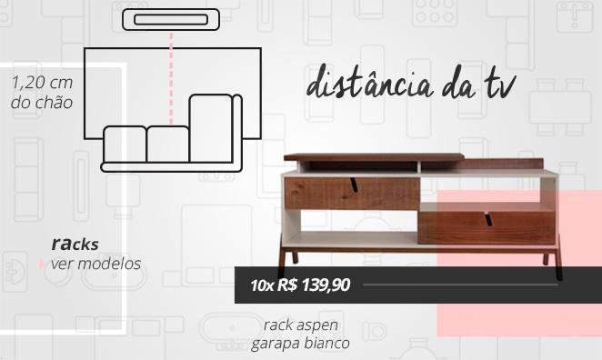 serie acerte as medidas sala de estar distancia entre televisao rack e televisao