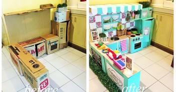 como fazer uma casinha de brinquedo de papelao