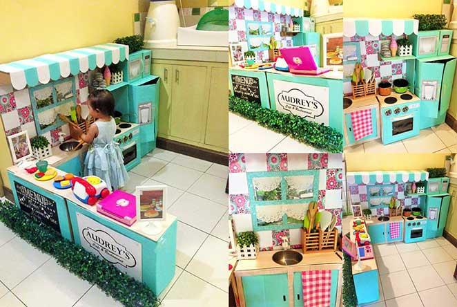 como fazer uma casinha de brinquedo com papelao e decora-la