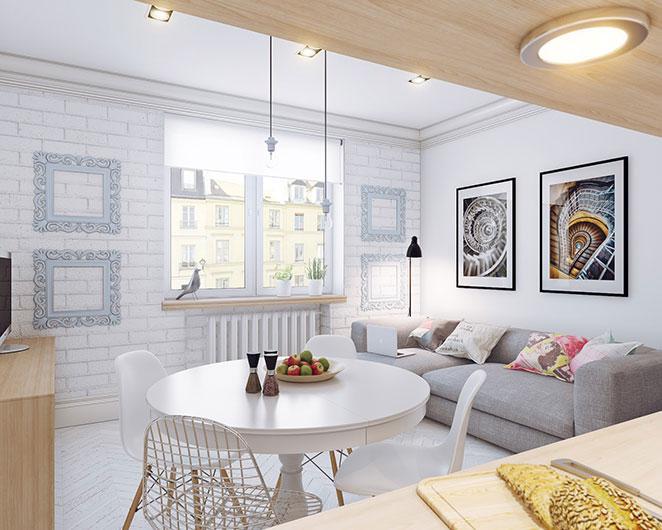 como mobiliar um apartamento pequeno e simples aproveitando a luz das janelas