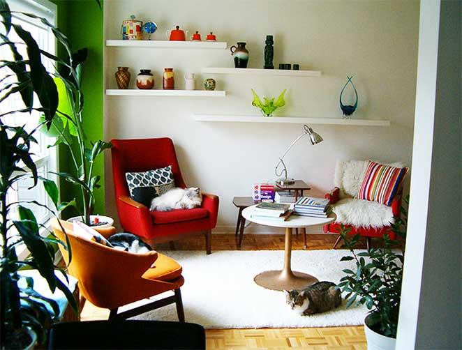 como mobiliar um apartamento pequeno e simples usando apenas os moveis essenciais