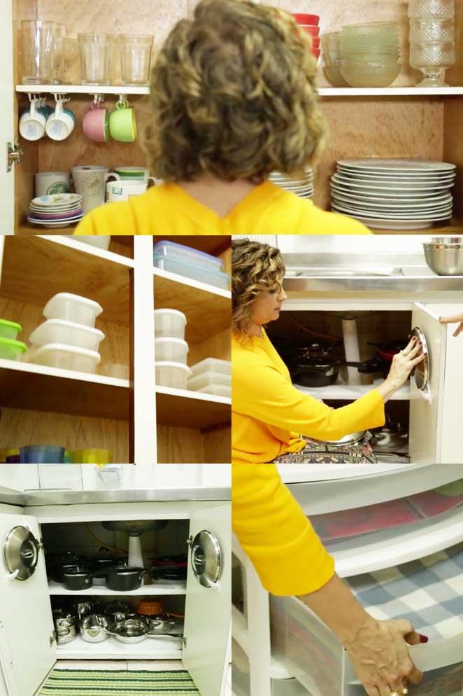 como organizar cozinha pequena aproveitando o espaco dos armarios
