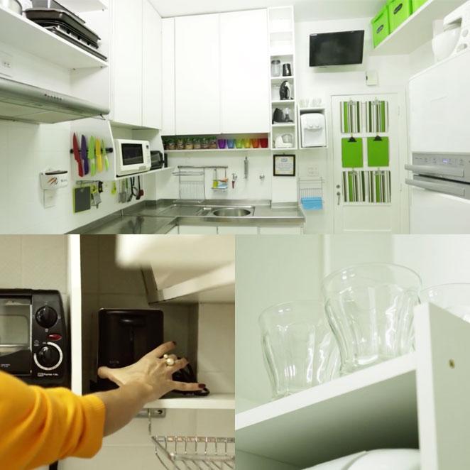 como organizar cozinha pequena com nichos
