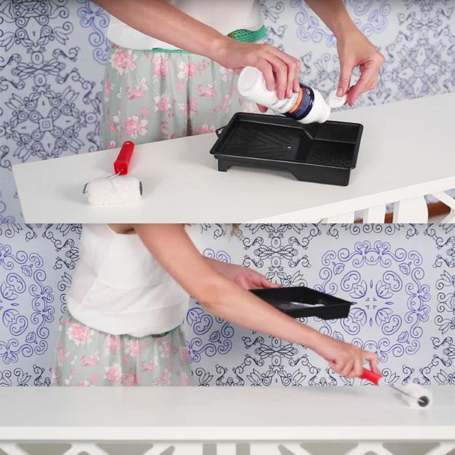 como revestir um movel com tecido usando cola branca