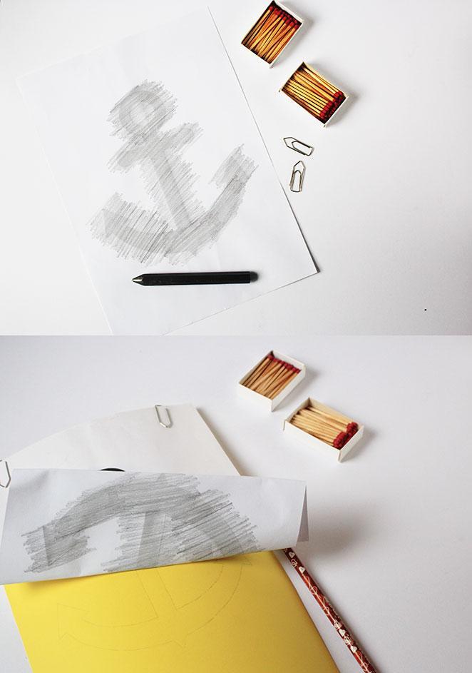 diy quadro 3d com fosforos preparacao do desenho