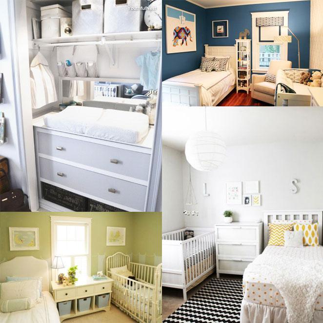 Use moveis versateis na hora de montar um quarto compartilhado com o bebe