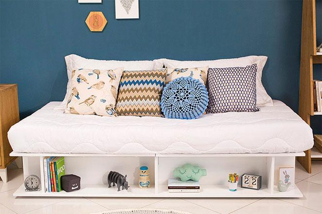 cama para quarto de solteiro pequeno