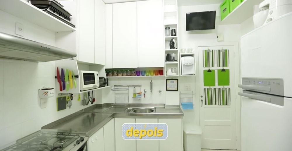como organizar cozinha pequena depois