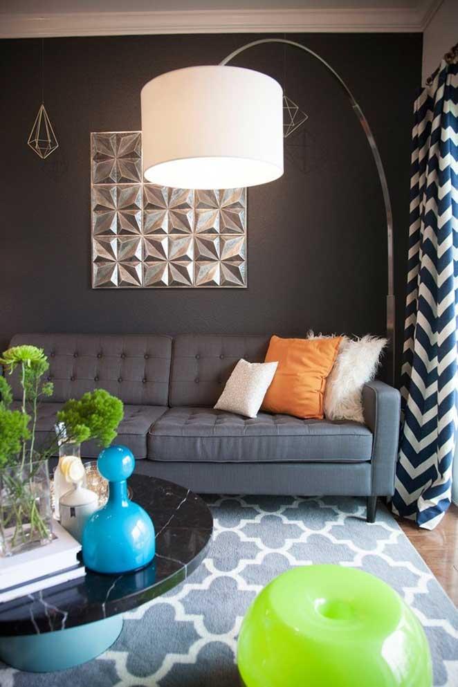 sala de apartamento pequeno e bem decorado