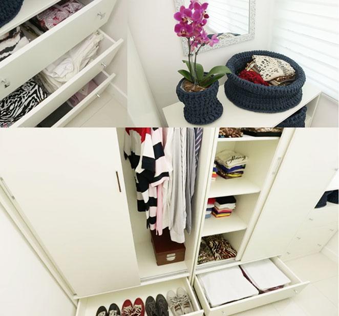 closet pequeno com escritorio